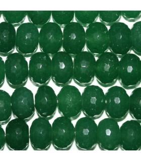 Aventurina Verde Rodaja Facetada 14x10mm.-Hilo 40cm.-Ref.8241