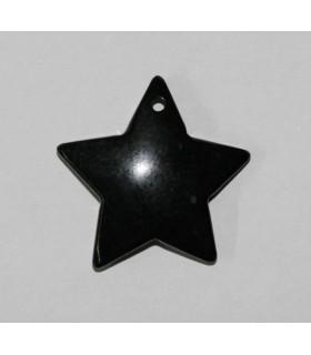 Colgante Azabache Estrella 35mm.-Ref.4329