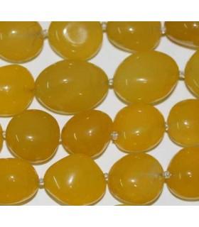 Calcedonia Amarilla Nugget 20x18mm aprox. -Hilo 40cm- Ref.3074