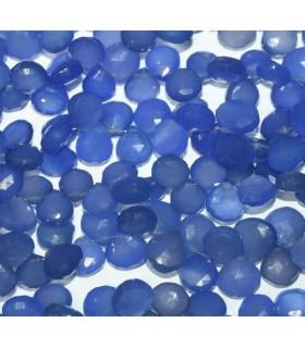 Calcedonia Azul Gota Facetada 11mm.-Hilo 20cm.-Ref.6192