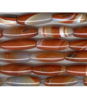 Carneola Barril 40x12mm -Hilo 40cm- Ref.1560