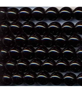 Onix Bola Lisa 4mm.-Hilo 40cm.-Ref.1482
