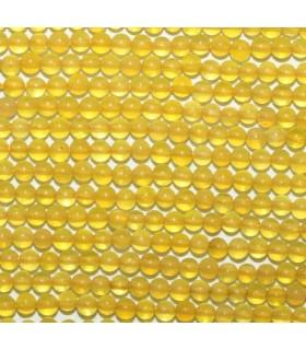 Ágata Amarilla Bola 2mm -Hilo 40cm- Ref.3145