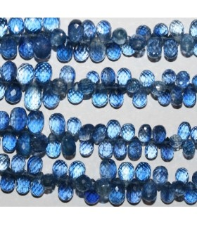 Kyanite Graduated Faceted Drop 5x3mm-9x5mm.-Strand 25cm.-Item.6584