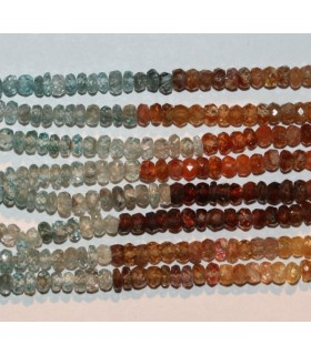 Multicolor Zircon Faceted Rondelle 3x2mm.-Strand 40cm.-Item.6897