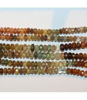 Multicolor Zircon Faceted Rondelle 5x3mm.-Strand 40cm.-Item.6898