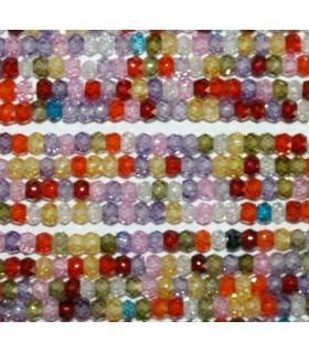 Circonita Multicolor Rodaja Facetada 3x2mm.-Hilo 34cm.-Ref.8366