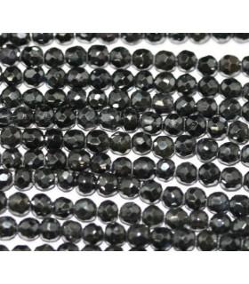 Circonita Negra Bola Facetada 4mm.Hilo 16cm.-Ref.4351
