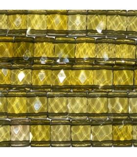Circonita Oliva Clara Rectangulo Facetado 11x8mm -Hilo 16cm- Ref.3847