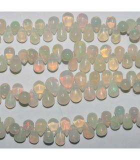 Opalo De Etiopia Gota Lisa En Degrade 6x4-10x7mm.Aprox,-Hilo 20cm.-Ref.8559