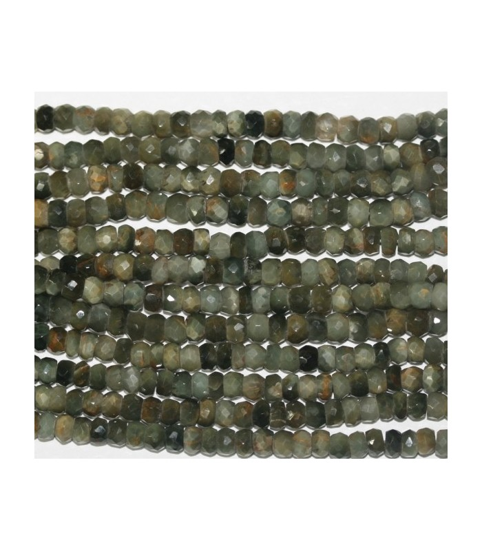 Crysoberyl Faceted Rondelle 4x3mm.-Strand 40cm.-Item.6254