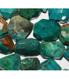 Crysocolla Faceted Nugget 20x15mm.Approx.-Strand 40cm.-Item.3521