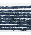 Sapphire Graduated Faceted Rondelle 2.5x1.5-3x2mm.-Strand 45cm.-Item.8585