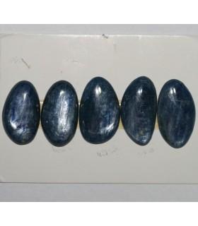 Cabujón Cianita Oval Irregular ( 5 Piezas ) 34x18mm.Aprox.-Ref.021CB