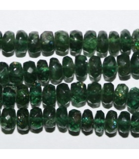 Chrome Diopside Faceted Rondelle 4x2mm.-Strand 34cm.-Item.7310