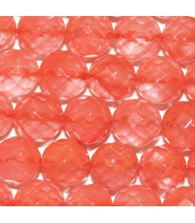 Cherry Quartz Faceted Round Beads 10mm.-Strand 40cm.-Item.7577