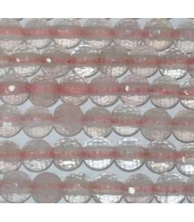 Cuarzo Rosa Bola Facetada 10mm Taladro 2.50mm -Hilo 40cm- Ref.2935