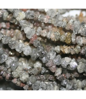 Diamante Gris En Bruto 1.5-2.5mm.-Hilo 38cm.-Ref.7296