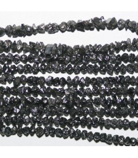 Black Diamond Unpolish 1.5-2.5mm.-Strand 38cm.-Item.7295