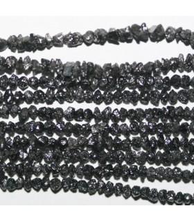 Diamante Negro En Bruto 1.5-2.5mm.-Hilo 38cm.-Ref.7295