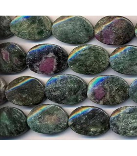 Fuchsite Twisted Oval 25x18mm -Strand 40cm- Item.2329