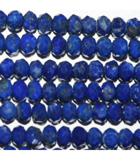 Lapis Lazuli Rodaja Facetada 5x3mm.-Hilo 40cm.-Ref.8744