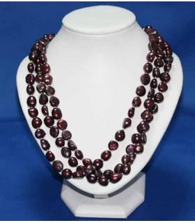 Collar Perlas Granates 160cm Ref.2925