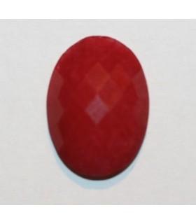 Cabujón Jade Rojo Oval Facetado 18x13mm.( 6 Unidades )-Ref.380CB