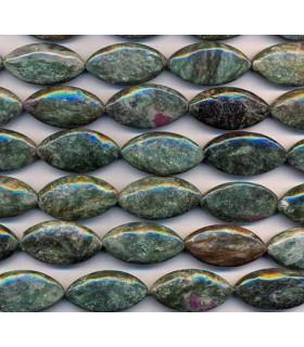Fuchsite Oval 30x15mm -Strand 40cm- Item.2325