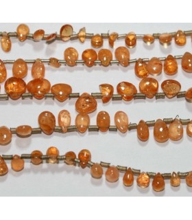 Spessartine Garnet Smooth Drop 7x4mm.Approx.-Strand 20cm.-Item.3164