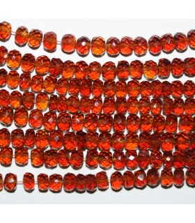 Spessartine Garnet Faceted Rondelle 5x3mm.-Strand 41cm.-Item.7242