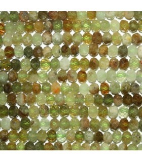 Grossular Garnet Faceted Rondelle 4x2.5mm..-Strand 40cm.-Item.6753