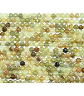 Grossular Garnet Faceted Round Beads 3mm.-Strand 40cm.-Item.4467