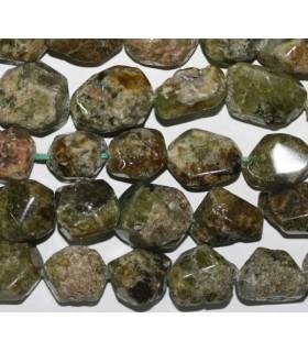 Granate Grosularia Nugget Facetado18x12mm.Aprox.-Hilo 40cm.-Ref.5894