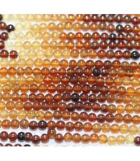 Hessonite Garnet Round Beads 3-4mm.-Strand 37mm.-Item.2178