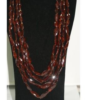Collar Granate Hesonita Nugget Facetado en Degrade 16x8-29x18mm.-Ref.6108