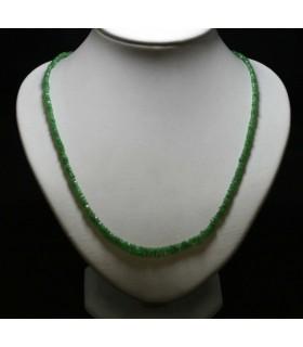 Collar (Cordón) Granate Tsavorita Rodaja Facetada En Degrade 3x2-5x3mm.-Ref.5076