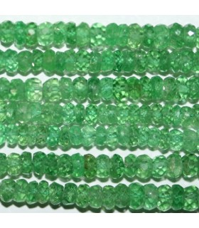 Tsavorite Garnet Graduated Faceted Rondelle 2x1.5-3.5x2mm.Approx..-Strand 40cm.-Item.8319