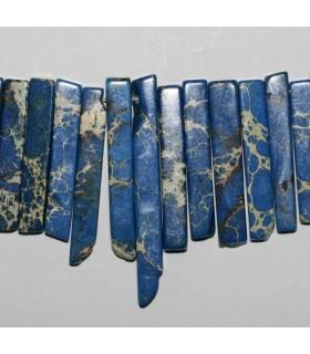 Howlita Azul Puntas Lisas En Degrade 15-55mm.Aprox.-Hilo 40cm.-Ref.7638