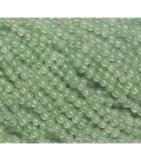 Aveturina Verde Bola lisa 2mm.-Hilo 40cm.-Ref.2997