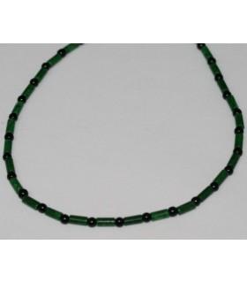 Collar Jade Tubo-Bola Onix 45cm.-Ref.5026