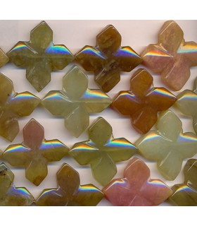 Chow Jade Star 36mm -Strand 40cm- Item.2303