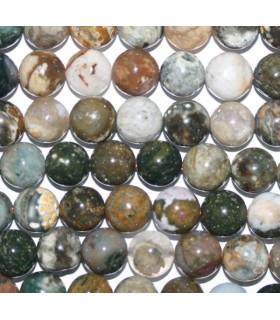 Ocean Jasper Round Beads 10mm.-Strand 40cm.-Item.6760