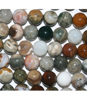 Ocean Jasper Round Beads 8mm.-Strand 40cm.-Item.6752