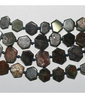 Rubi Hexagonal Irregular plano 8-12mm.-Hilo 42cm.-Ref.8812