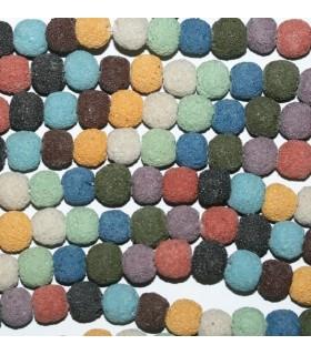 Lava Colores Bola 10-11mm.-( Taladro 2.5mm )-Hilo 40cm.-Ref.8115