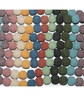 Lava Colores Bola 12-13mm.-( Taladro 2.5mm )-Hilo 40cm.-Ref.8116
