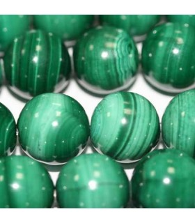 Malachite Round Beads 13-14mm -Item. 1027
