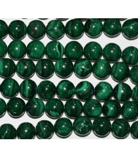 Malachite Round Beads 9-10mm.-Strand 40cm.-Item.5387