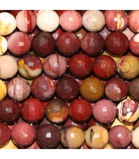 Mookaite Faceted Round Beads 10-11mm -Strand 40cm- Item. 3404